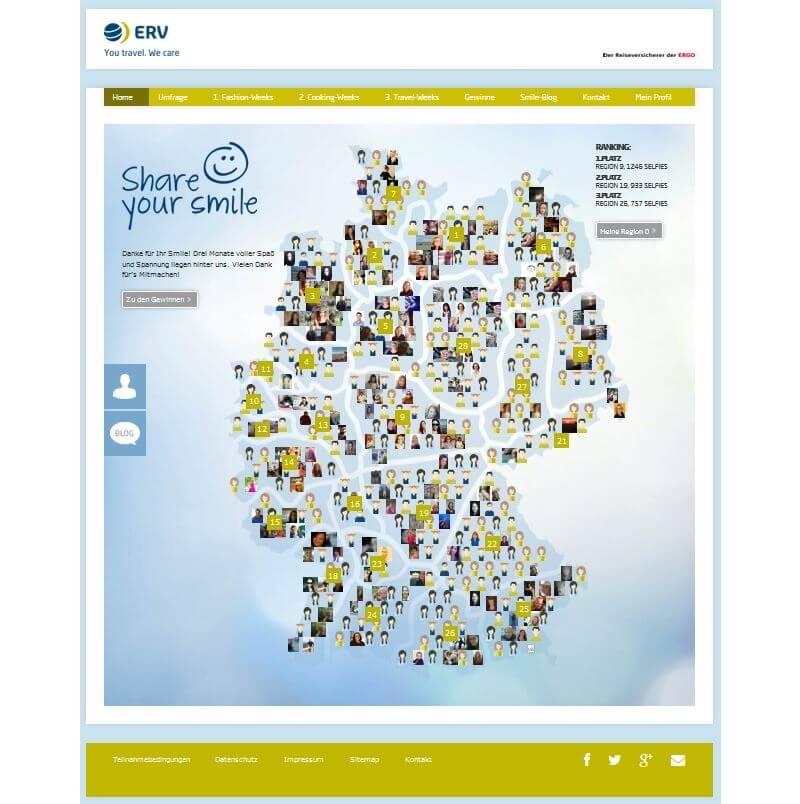 Marketingkampagne Share your smile - ERV