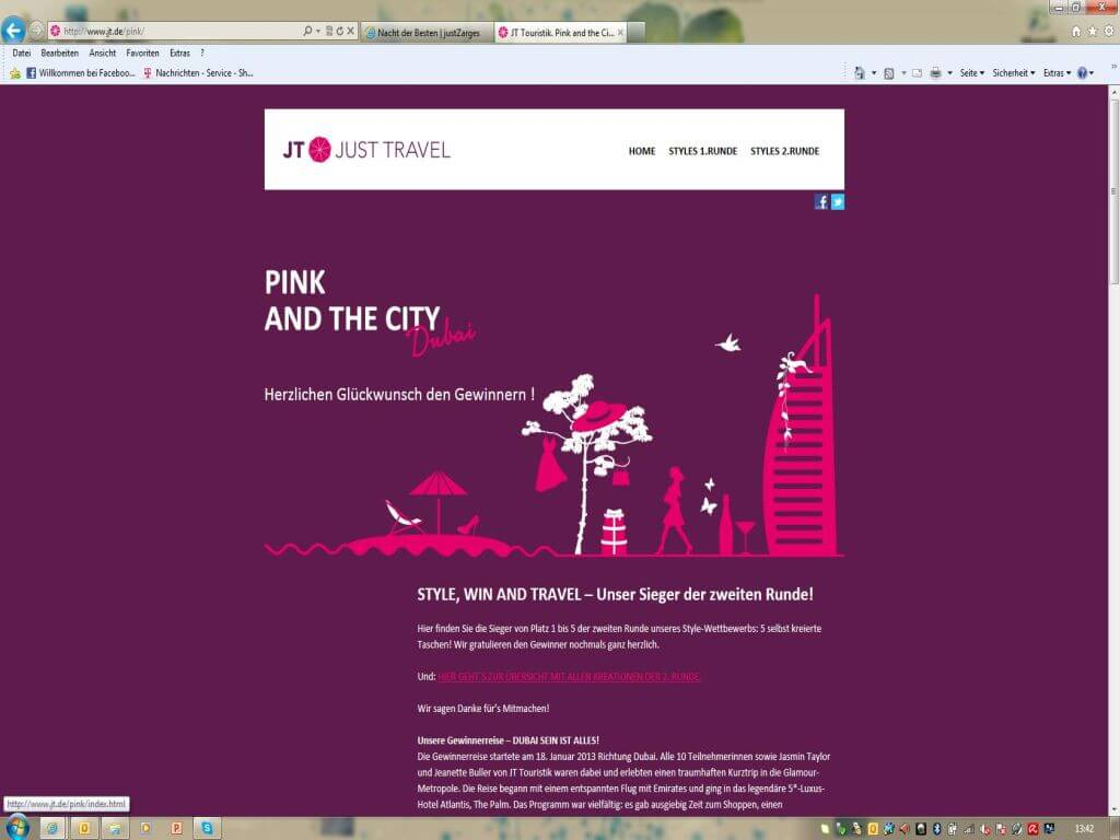 Vertriebskampagne Pink and the City Dubai - JT Touristik