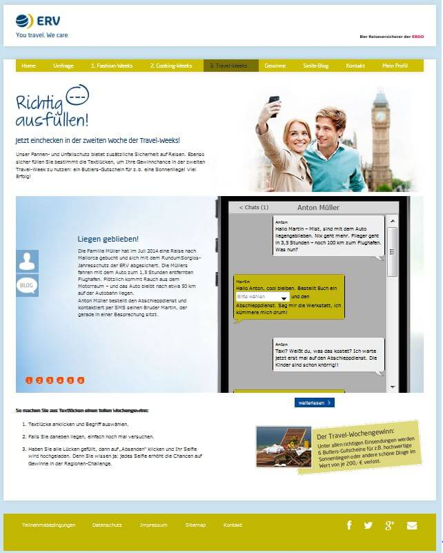 Portal Share your smile - Lückentext