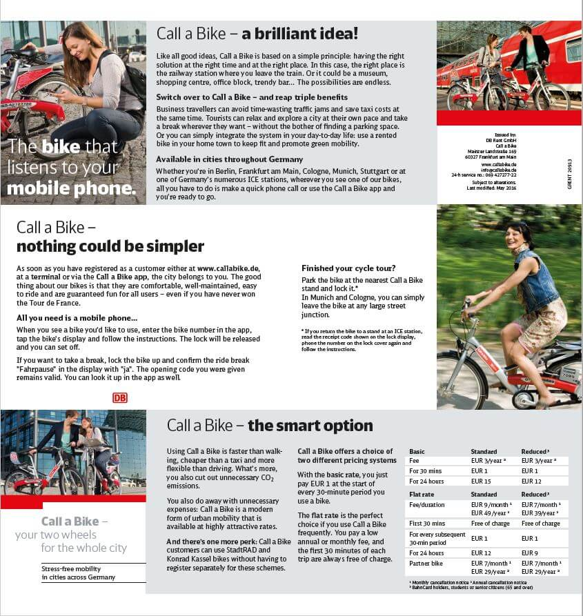 Layout Z-Card Call a Bike / Foto: justZARGES