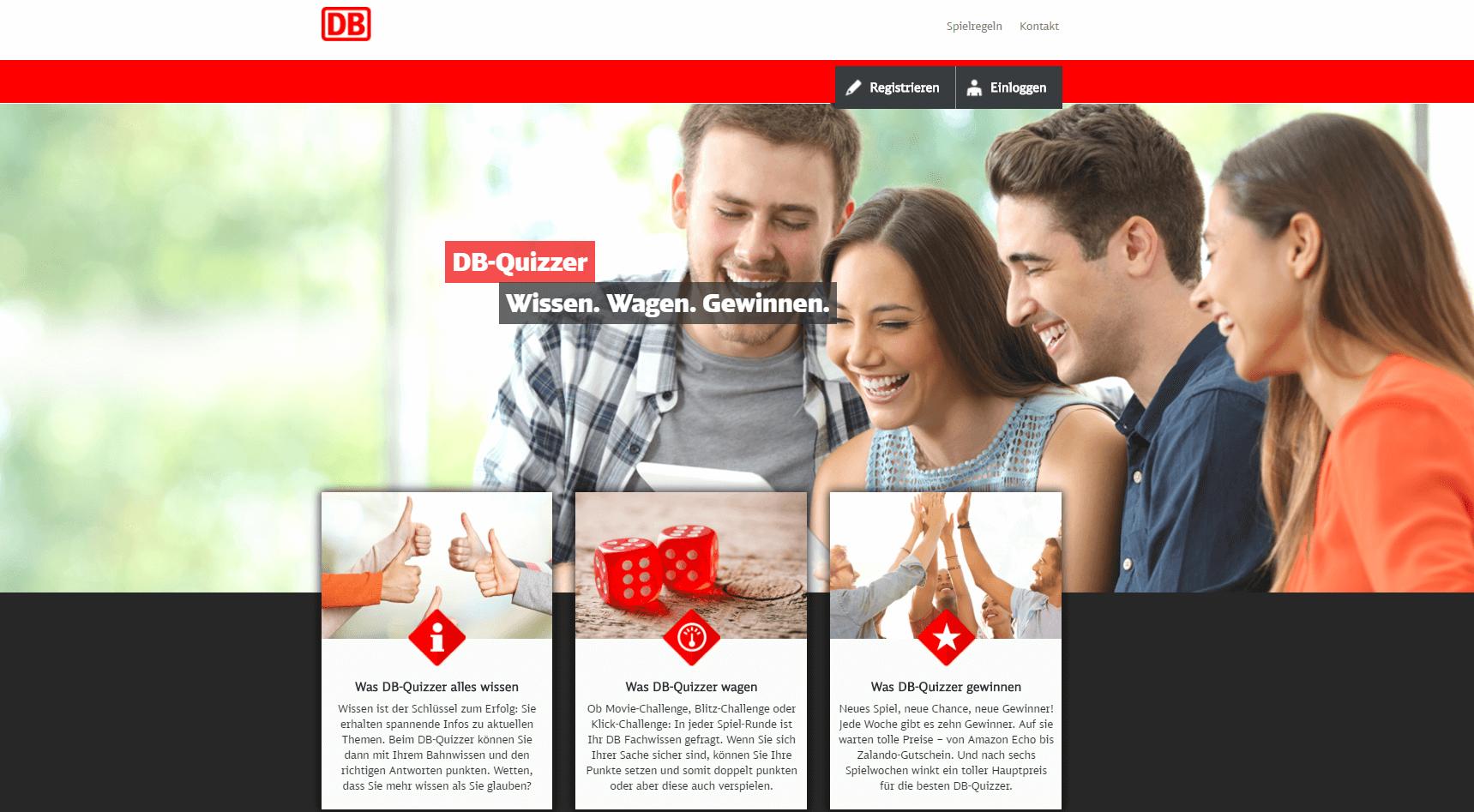 DB Quizzer Kommunikationskampagne DB Vertrieb - Umsetzung Marketingagentur justZARGES