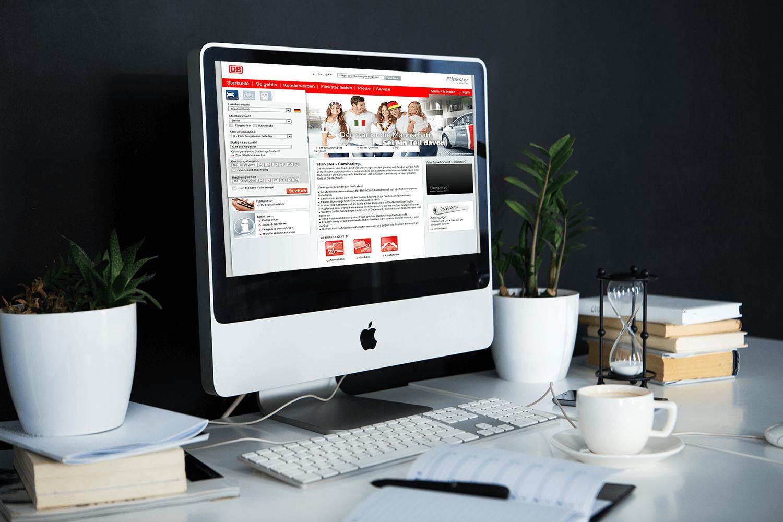 """Onlinekampagne """"Der Star ist die Mannschft"""" Call a Bike und Flinkster © Marketingagentur justZARGEScommunicate!"""