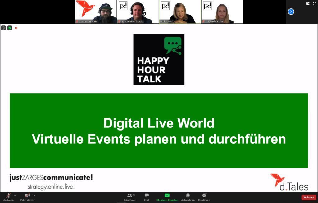 Happy Hour Talk - Virtuelle Events planen und durchführen