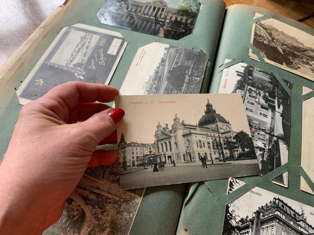 Alte Postkarten aus Carolines Familienalbum