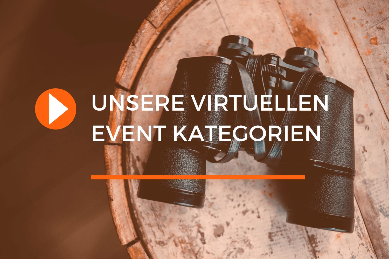 Virtuelle Events Kategorien von justZARGEScommunicate.